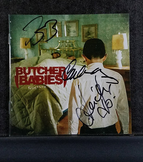 "SOLD Butcher Babies signed CD ""Goliath"""