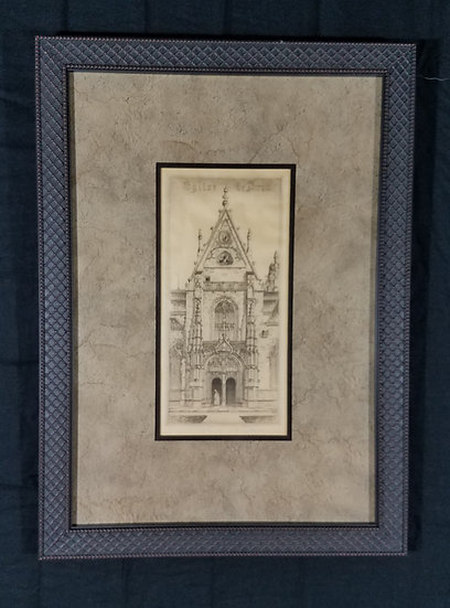 SOLD John Taylor Arms Eglise De Brau Etching