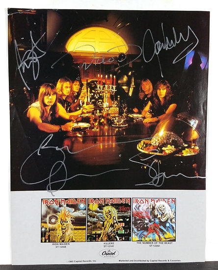 Iron Maiden Signed Vintage Catalog Insert by 5