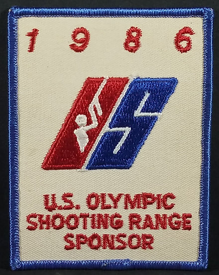 1986 U.S. Olympic Shooting Range Sponsor Embroidered Patch