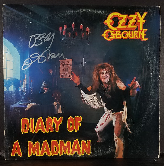 "Ozzy Osbourne signed ""Diary Of A Madman"" LP"