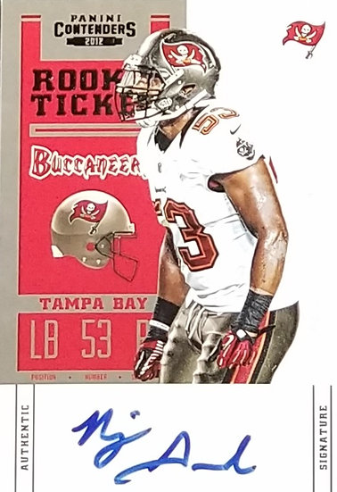 Tampa Bay Bucs Signed Najee Goode Trading Card