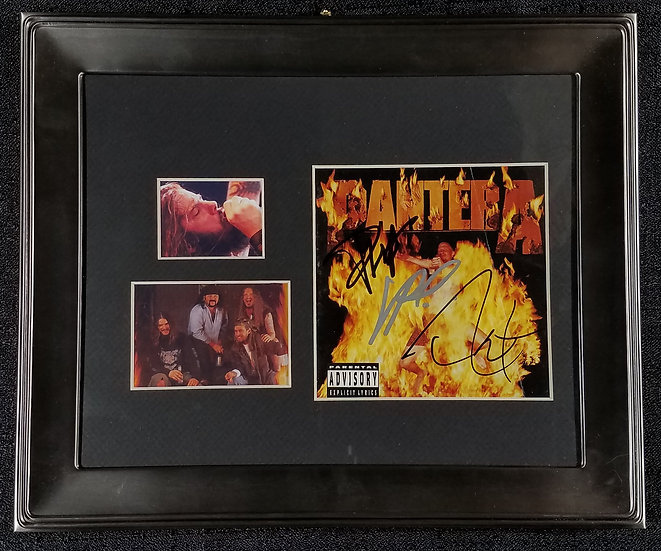 "Pantera signed CD ""Reinventing the Steel"" signed by 3"