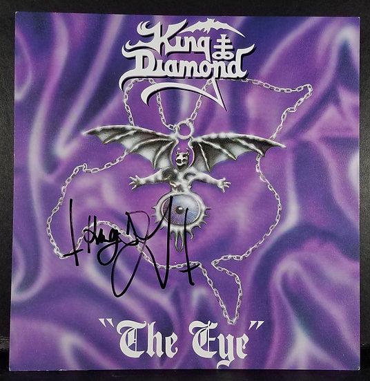 "SOLD King Diamond signed promo flat ""The Eye"