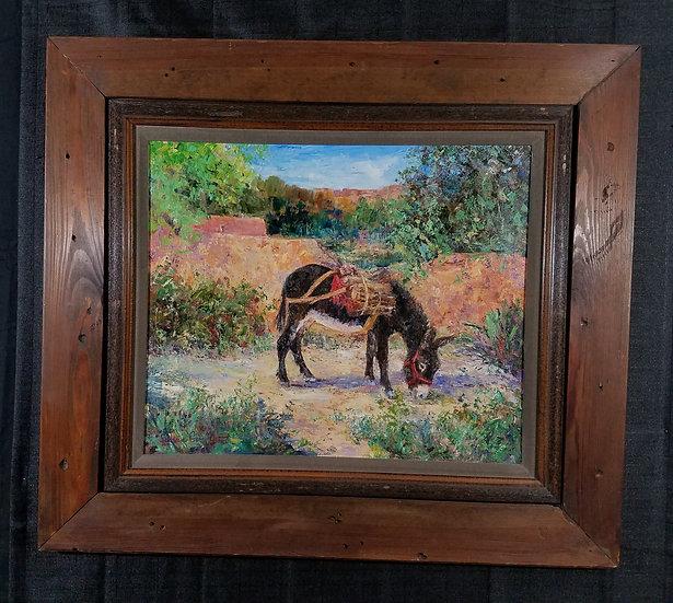 """Sylvia D. Gormley/""""The Burro""""/Original Oil on Canvas"""