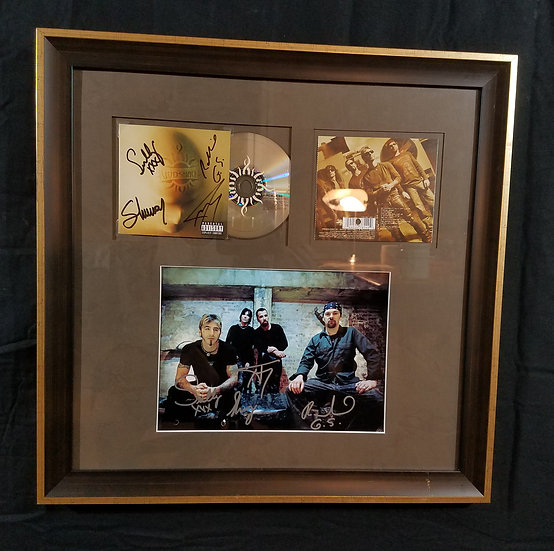 "Godsmacksigned and framed ""Faceless"" CD & 8 x 10 promotional photo"