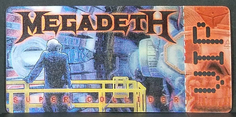 "SOLD Megadeth VIP ""Super Collider"" Lenticular Ticket, Wash. D.C. Show"