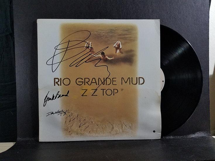 "ZZ Topsigned LP ""Rio Grande Mud"""