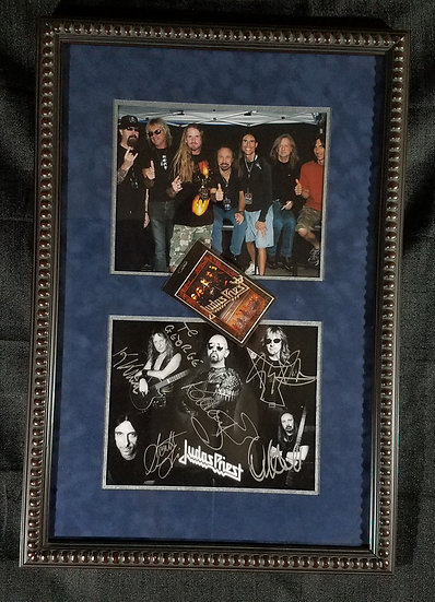 "Judas Priest signed and framed ""Montage"""