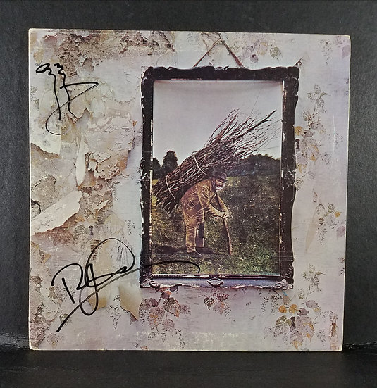 """Led Zeppelinsigned LP """"IV"""" by Page and Plant"""