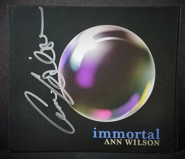 """Signed """"immortal"""" CD by Anne Wilson/Heart"""