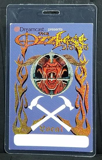 "OZZFEST 2000 Backstage PassLaminate""LOCAL"" PanteraStatic X NICE!"