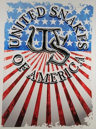 "Whitenake Poster New 2018""United Snakes of America"" 18 x 24 New"