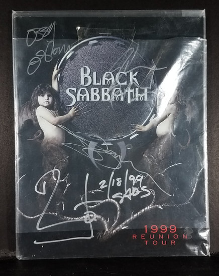 "Black Sabbath signed 1999 ""Reunion Tour"" Program"