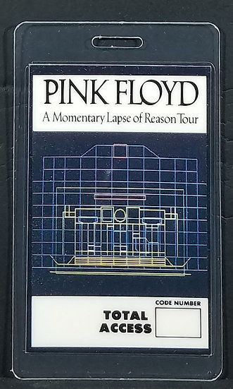 Pink Floyd A Momentary Lapse of Reason Tour All Access Pass w/ Otto Backing