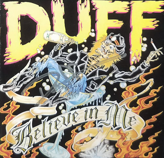 Duff McKagan signed CD cover/Believe In Me