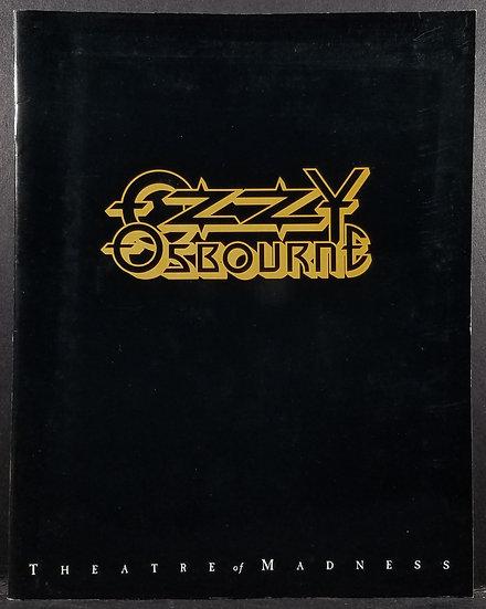 "1992 Ozzy Osbourne ""Theatre of Madness"" Program w/ ticket from show in England!"
