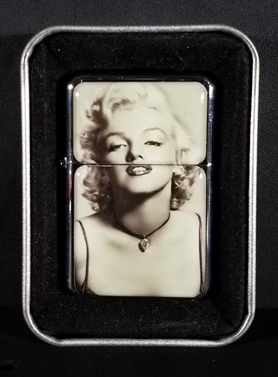 NEW - NEVER USED Marilyn Monroe Lighter with case. Nice!!