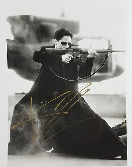SOLD The Matrix/ Keanu Reeves signed promo photo