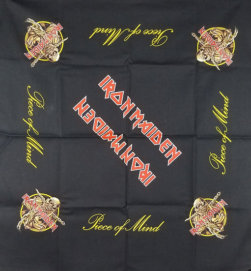 "Iron Maiden Bandera/Flag, ""Piece of Mind"" - 21 x 21 inches"