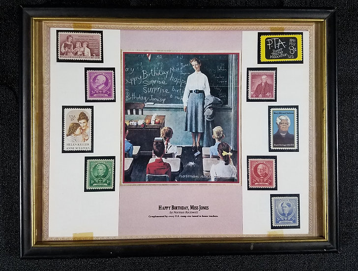 """Happy Birthday Miss Jones,"" Norman Rockwell/Stamp Display to Honor Teachers"