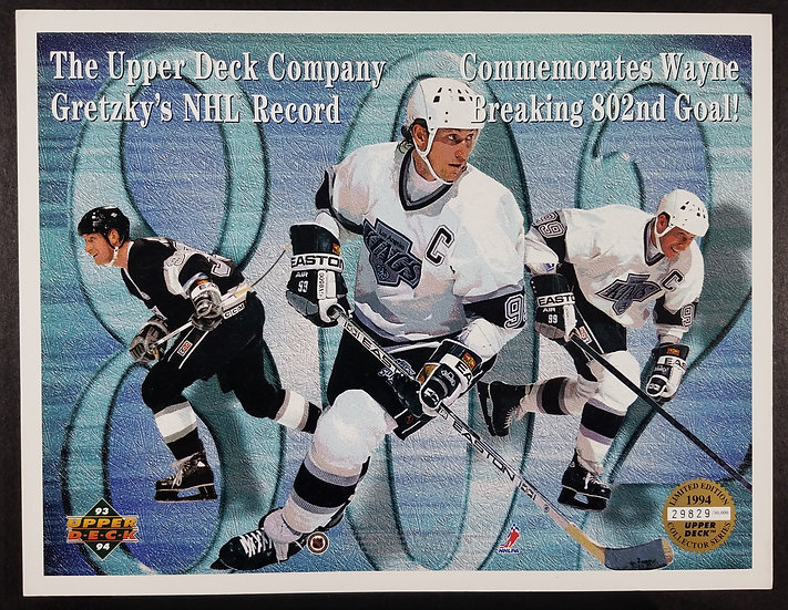 Upper Deck Commemorates Gretsky's 802nd Goal/29829