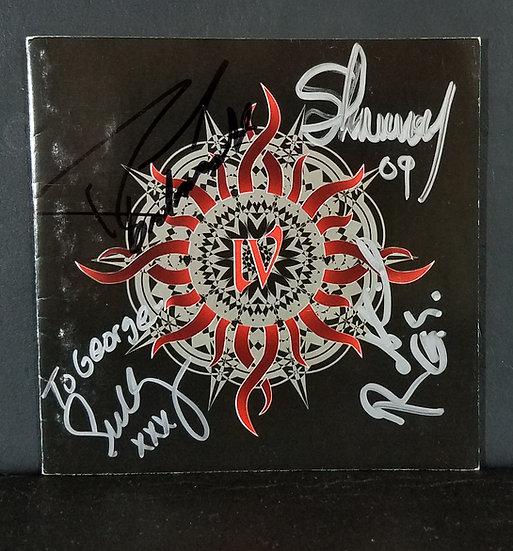 """Godsmacksigned CD """"IV"""" - signed by Sully Erna, Robbie Merrill, Tony Rombola and"""