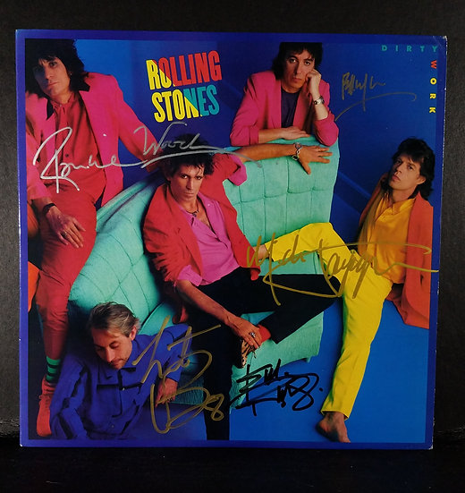 "M 242 Rolling Stones signed LP ""Dirty Talk"" $1,300.00 /OBO"