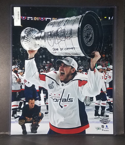 SOLD Washington Capitals T.J. Oshie SIGNED Stanley Cup Photo
