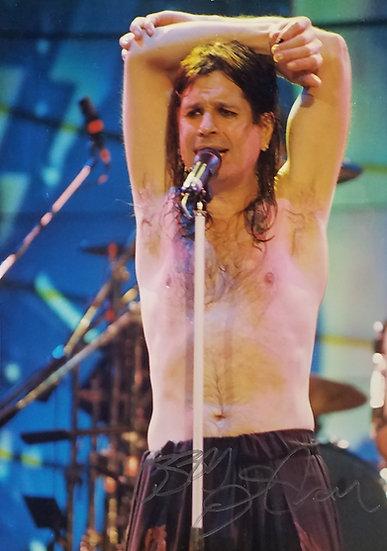 Ozzy Osbourne signed concert photo