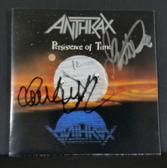 """Anthraxsigned CD """"Persistence of Time"""" - signed by two"""