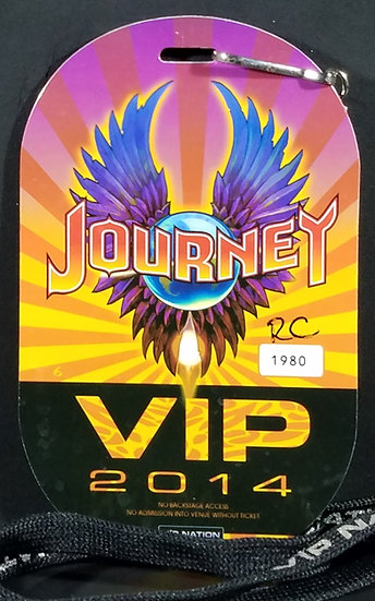 Journey 2014 VIP Holographic Pass and VIP Nation Lanyard, Excellent Condition