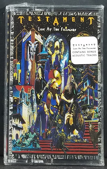 NEW/UNOPENED Testament Live At The Fillmore Cassette  Nice Collectable...