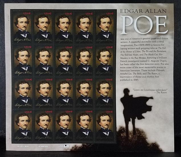 Edgar Allan Poe - 20 stamp sheet/intact - 42 cent