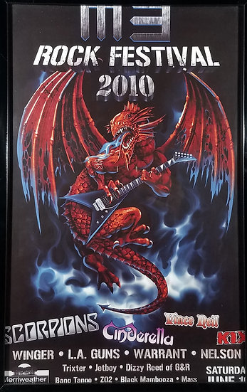 Original M3 Metal Festival Promotional Poster, MD Show, 2010 + Ticket