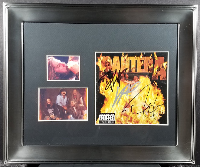 "JSA Certified Pantera signed ""Reinventing The Steel"" CD Cover"