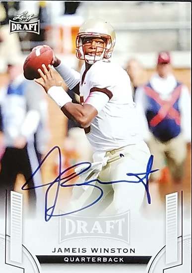 Tampa Bay Bucs Signed James Winston Trading Card, 2015