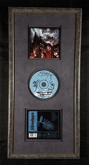 "SOLD Shinedown signed and framed CD ""Us And Them"""
