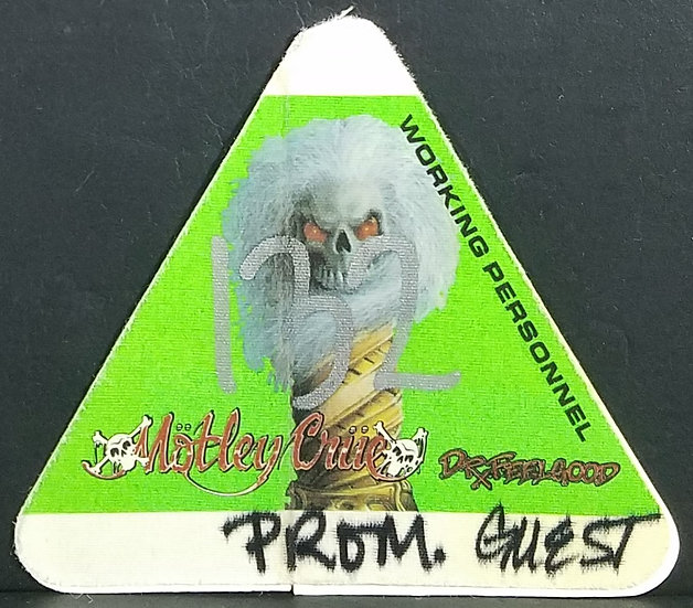 SOLD Motley Crue Backstage WORKING PERSONNEL GUEST Pass Used Dr. Feelgood Tou