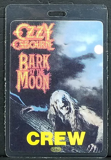 """Ozzy Osbourne Authentic/Vintage Laminate """"Bark At The Moon"""" CREW pass, OTTO back"""
