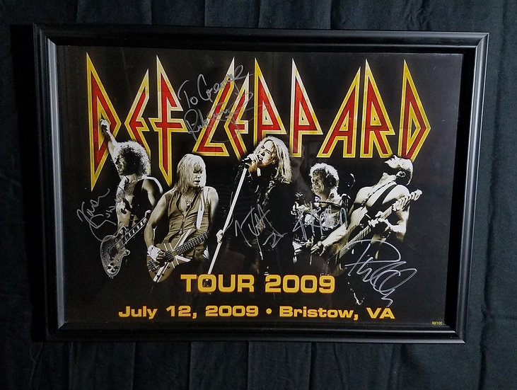 "Def Leppard signed and framed ""Tour 2009"" Promotional Poster"