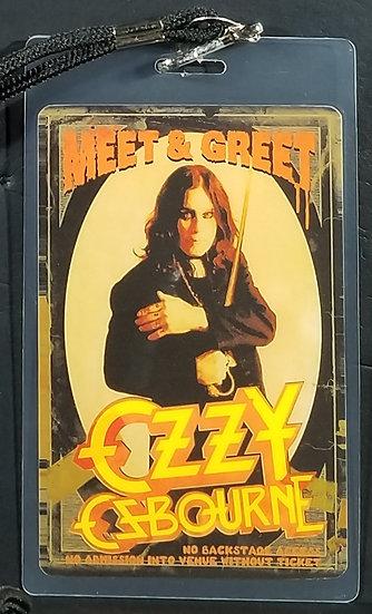 Ozzy Osbourne Meet & Greet Laminate 2010