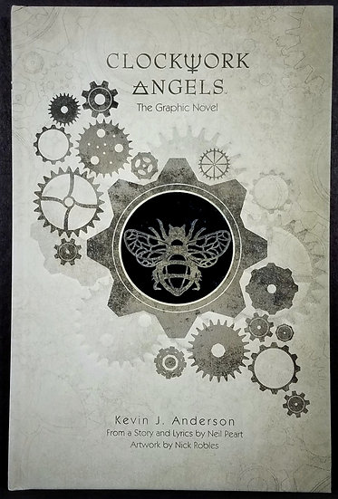 LAST ONE - RUSH Neil Peart Signed Clockwork Angels Novel, Limited Ed. - NEW
