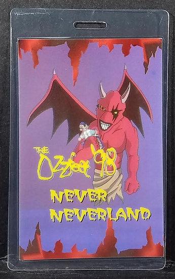"""Ozzy Osbourne """"Ozzfest 1998 backstage pass"""