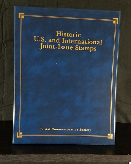 Historic U.S. and International Joint Stamps Postal Commemorative Folio Tri-Fold