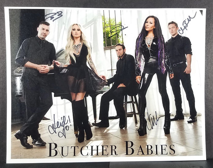 Butcher Babies signed 8 x 10 by all