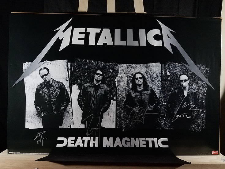 Metallica signed Death Magnetic Poster