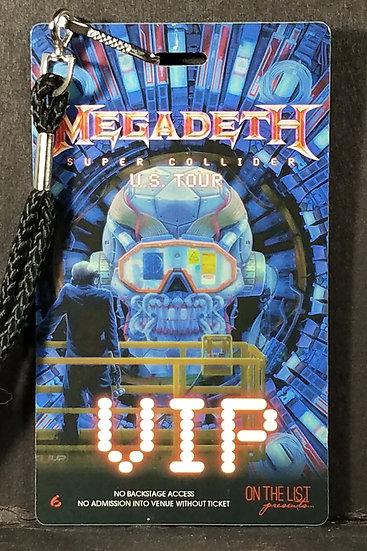 """SOLD Megadeth """"Super Collider"""" VIP Laminate, show on 12/4/13, Wash. D.C."""