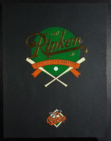Cal Ripken Jr. Baltimore Orioles Official MLB Commemorative Book 1995