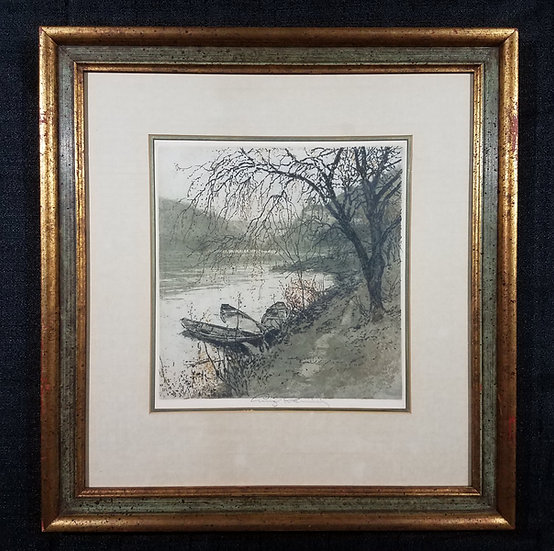 "SOLD Luigi Kasimir ""Schoenbuhl"" Etching, signed by artist - $800.00/ OBO"
